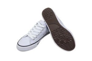 TEEPER White Shoes Unisex SH100-1 Children School Shoes Kids Canvas Shoes