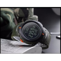 SKMEI Outdoor Man Sports Compass Watches Hiking Digital LED Electronic Watch Chronograph Men Clock - 2 Colors Available