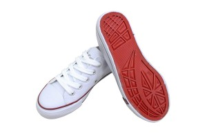 TEEPER White Shoes Unisex SH200-1R Children School Shoes Kids Canvas Shoes