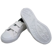 TEEPER White Shoes Unisex SH-1 Children School Shoes Kids Canvas Shoes