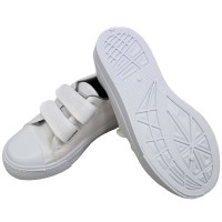 TEEPER White Shoes Unisex SH-2 Children School Shoes Kids Canvas Shoes