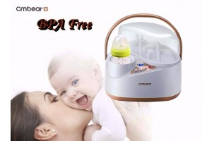Cmbear Large Capacity Multifunctional  Baby Bottle Sterilizer and Warmer Food Grade PP BPA Free LCD Bottle Warmer Sterilizer (ZRN-0506)