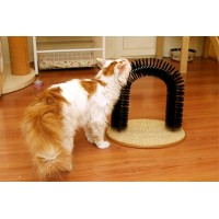Purrfect Arch Pet Cat Self Groomer With Round Fleece Base Cat Toy Brush Toys For Cat Purrfect Scratching Devices