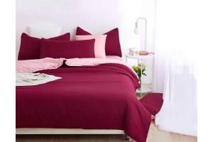 3-In-1 Premium Solid Plain Bed Sheet Queen Size (1.5) - 10 Colors Available