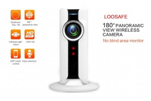 LOOSAFE LS-QJ10 VR Cam 720P 180° Panoramic Fish-eye Lens Security Surveillance Wireless Camera With Android IOS OS