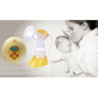 KINYO Electric Breast Pump Anti-Backflow LCD Display 9-Grade Adjustment Double Frequency Suction BPA Free