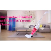Jun Ju Multifunction Handheld And Push Rod Vacuum Cleaner Low Noise Mini Large Suction Putter Dust Collector JJ-088A