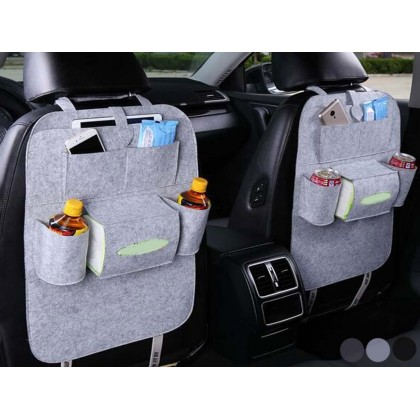 Buy 1 Free 1 - Auto Car Seat Back Elastic Net String Bag Sundries Multi-Pocket Storage Bag Organizer 6 Pocket Holder Accessory Fixed For Car - 3 Colors Available