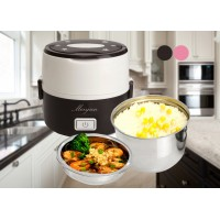 Portable Electric Heating Container Mini Rice Cooker Heating Multi-function Cooking Steaming Lunch Box (MY-S-2) - 2 Colors Available