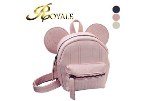 ROYALE Disney Minnie Mickey Mouse Ears Mini Swirl Backpack - 3 Colors Available (RYL-206)