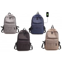 Premium 14 Inches Laptop Backpacks Outdoor Travel Bag With USB Charging Port (3227#)