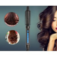 Professional Salon Styling Natural Iron Therapy Repeat Hairdressing Brush Barrel Hair Curling Iron
