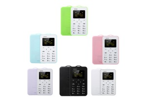 C6 Ultra Thin Card Pocket Mini Mobile Phone Dual Band Low Radiation Card Phone For Kids