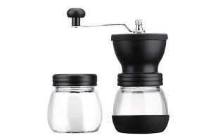 Manual Ceramic Coffee Grinder Stainless Steel Grinder Kitchen DIY Mini Manual Coffee Grinder