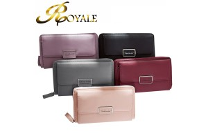 ROYALE Forever Young Ladies Zipper Bag Large-capacity Chain Bag Fashion Europe United States Long Wallet (LGF570-1W)