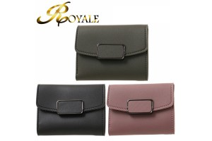 ROYALE Purse Female Short Paragraph Small Fresh Three Fold Ultra-thin Wallet New Korean Version Of The Mini Simple Student Purse (205)