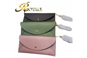 ROYALE Wallet Women's Long Paragraph Small Fresh Ultra-thin Wallet New Korean Version Of The Simple Personality Multifunctional Ladies Wallet (201)