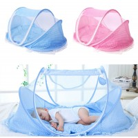 Foldable Infant Baby Bed Mosquito Net Free Installation Dense Zip Mongolian Yurp Support Mosquito Curtain Crib Netting