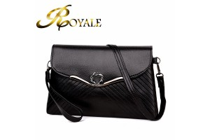 ROYALE Flap Shoulder Bag Women PU Leather Crossbody Bag Lady Sling Satchel Handbag (RYL-213)