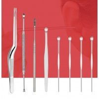 Remover Cleaner Ear Care Tool 8 Pcs Ear Wax Pickers Stainless Steel Ear Picks Wax Removal Curette Ear Pick Tool Set