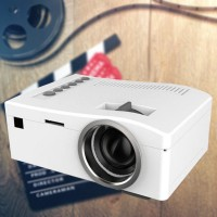 Simplified Micro Projector HD LED Projector Home Entertainment Audio Video Mulitmedia Support HD HDMI USB SD AV TV Video Input