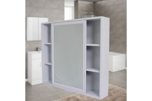 Aluminum Bathroom Mirror Cabinet Mirror Box Bathroom Mirror Grooming Mirror Case Storage Cabinet Wall Hanging Cabinet With Push Door