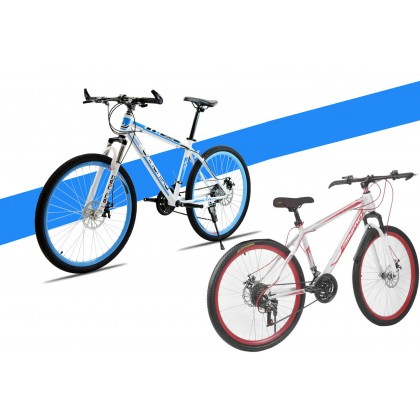 26 Inch Folding Bike Foldable Bicycle Cycling Mountain Bike Off-road Speed Double Disc Brake