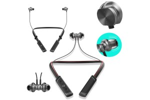 Bluetooth Wireless Headphones Neckband Sport In Ear Earphone Earbud Headset Call And Vibration With Magnetic Fixture Function Compatible IOS And Androids
