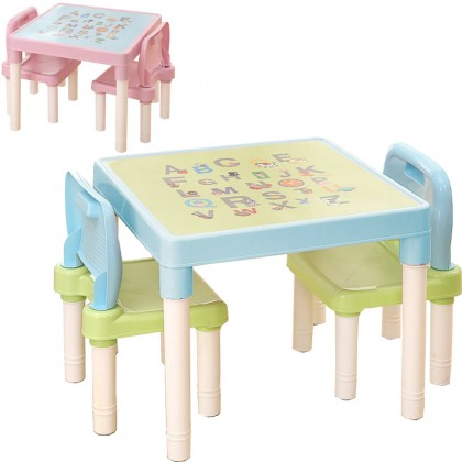 Children's Learning Table And Chairs Set Kindergarten Tables Chairs Plastic Game Table Dinner Drawing Table