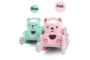 High Quality 2-In-1 Children Kid Rocking Chair Bear Slide Combo Baby Age 1-6 Year Old Rocking Chair Ride Ons Chair