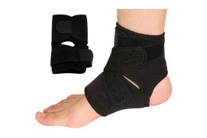 Adjustable Ankle Protector Breathable Splint Strap Injury Brace Pad Pain Relief Recovery Compression Wrap Cushion Arch Support Elastic Guard For Sports