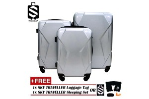 SKY TRAVELLER SKY311 High Quality 3-In-1 Glossy Surface Premium Luggage Set With 4 Wheels (20Inch+24Inch+28Inch)