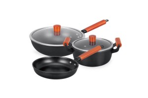 5pcs Non-stick Cookware Kit Tool Stockpot Fry Set Refined Pan Pot Wok (CW-7120)