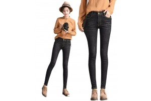 Plum Star Thin Student Fashion Dark Jeans Female Thin Student Fashion Dark Jeans 6627
