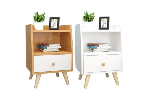 Bedside Table Bedroom Side Cabinet With Drawer Bedside Table Stylish Personality Simple Locker (BT016)​