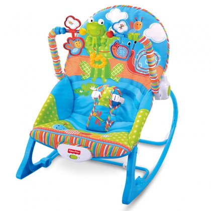 Adjustable Infant To Toddler Rocker Music Baby Swinging Chair Reclining Seat Vibration Simulating Toy
