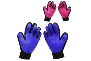 Left And Right Comfortable Multipurpose Silicone Pet Gloves Massage Bathing Petting Shedding Hair Remove Soft Thorn Gloves
