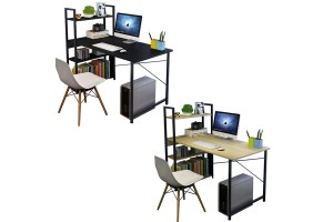 Multipurpose Computer Table Study Table Writing Table With Attached Multipurpose Shelf Table (115cm x 55cm x 110cm) - 2 Colors Available