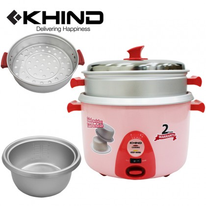 KHIND 14 Cups Rice Cooker 2.8L Aluminium Inner Pot with Steam Tray (RC928) ​