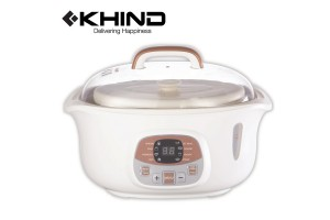 KHIND Anshin Double Boiler 1.8L with Free 3 Pcs Ceramic Pots (DB181)