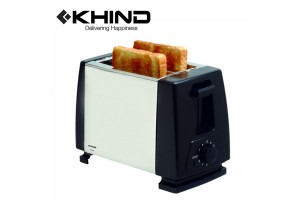 KHIND Stainless Steel Bread Toaster 2 Slide (BT802)