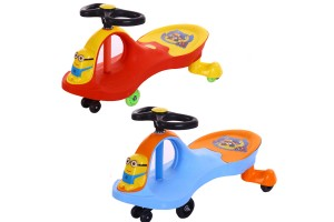 Minion Baby Walker Tricycle Riding Toys Swing Car Twist Car Scooter Children Baby Toddler