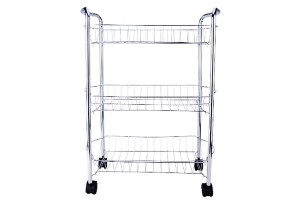 Simple Modern Practical 3 Tier Layer Multipurpose Metal Kitchen Bathroom Basket Storage Organizer Rack