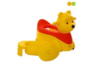 Kids Pooh Bear Ride On Potty Training Toilet Chair Children Toilet Seat With Wheels And Music