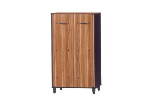 UB Furniture Simple 2D Sonama Oak Shoes Cabinet Closed Hall Cabinet Dust-Proof Shoes Rack Storage Cabinet - 6484A (70017)