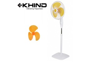 """KHIND 16"""" Stand Fan Smooth Oscillation 3 Speed ON/OFF Push Button Adjustable Height (SF1683)"""