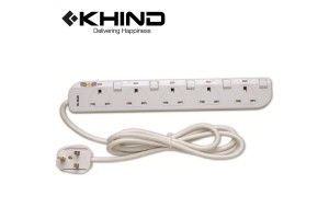 KHIND 5 Gang Extension Socket 3250W 2.0M Trailing Socket (LN8135W)