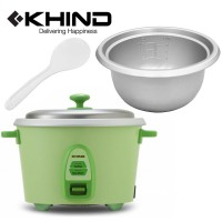 KHIND 2.8L (14 Cups) Rice Cooker Optimal Keep Warm Stainless Steel Removable Cover Lid (RC828N)