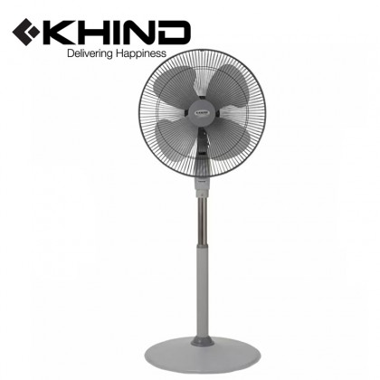 """KHIND Stand Fan 18"""" 1320 RPM & Adjustable Height 4 Blade Fan (SF1811)"""