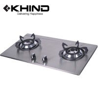 KHIND 2 Hobs Gas Cooktop Stainless Steel Stylish Battery Ignition (HB802S)